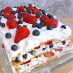 Very Berry Icebox Cake in Dish