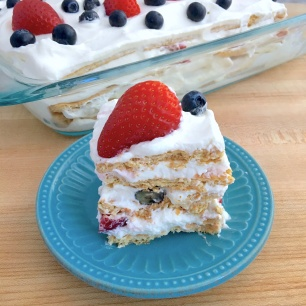 Very Berry Icebox Cake Slice