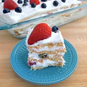 Very Berry Icebox Cake Slice