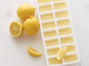 Lemon Ice Cubes for Ice Tea