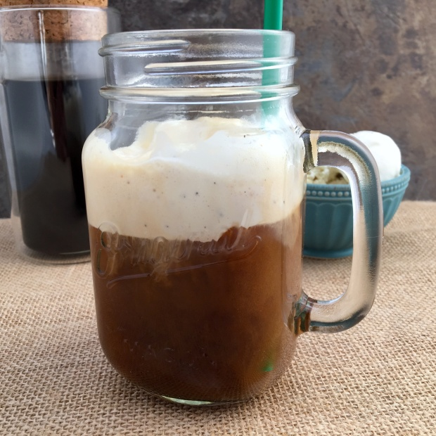 cold brew coffee float
