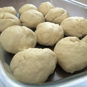 Hawaiian bread rolls dough balls