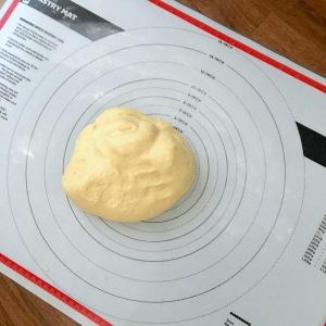 Hawaiian bread rolls dough pastry mat