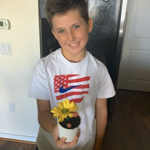 Ray of Sun Flower Pot Sundaes Finished