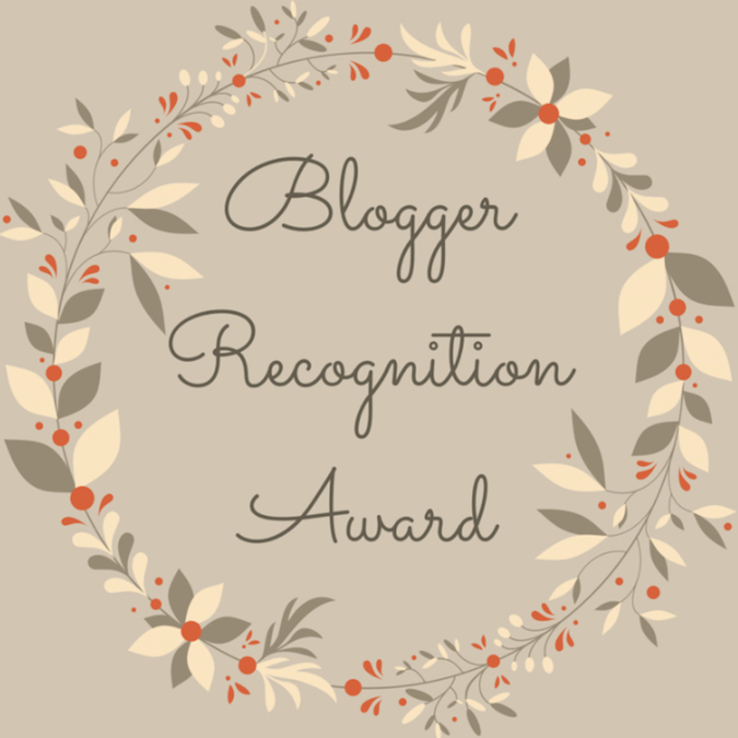 Blogger Recongition Award