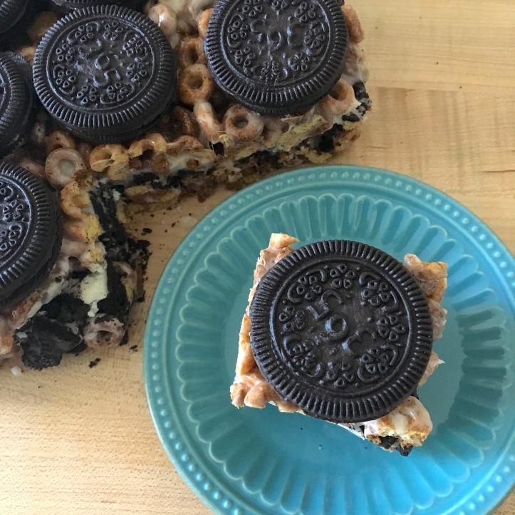 Cookies and Cream Dessert Bars - overhead