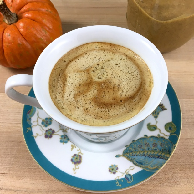 Pumpkin Spice Coconut Coffee Creamer Overhead