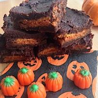 Pumpkin Oreo Brownies