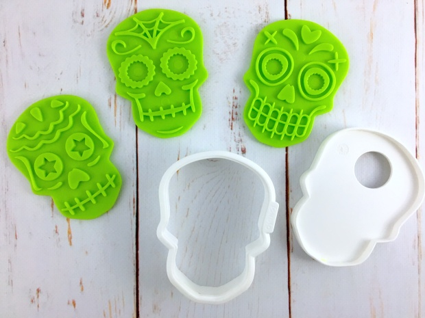 Sugar Skull Cookie Cutter Set Components