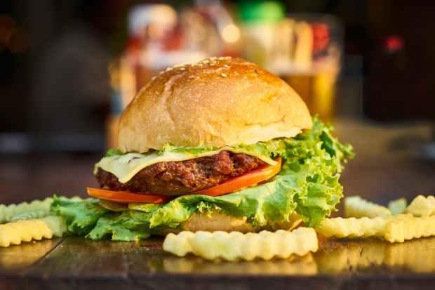 blur burger close up fastfood